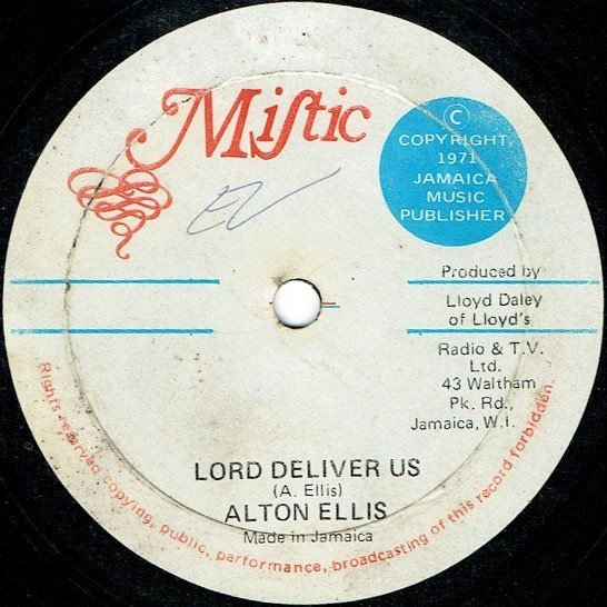Alton Ellis - Lord Deliver Us / Going Back To Africa