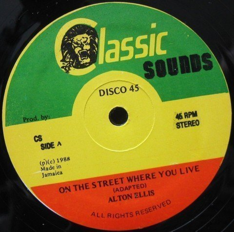 Alton Ellis - On The Street Where You Live / Love Is Getting Hotter And Hotter