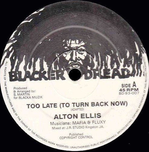 Alton Ellis - Too Late (To Turn Back Now) / Miss (Poppy) Popular
