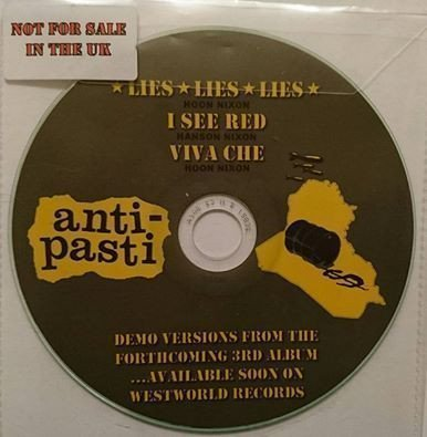 Anti pasti - Demo Versions From The Forthcoming 3rd Album