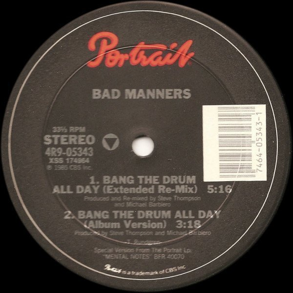 Bad Manners - Bang The Drum All Day