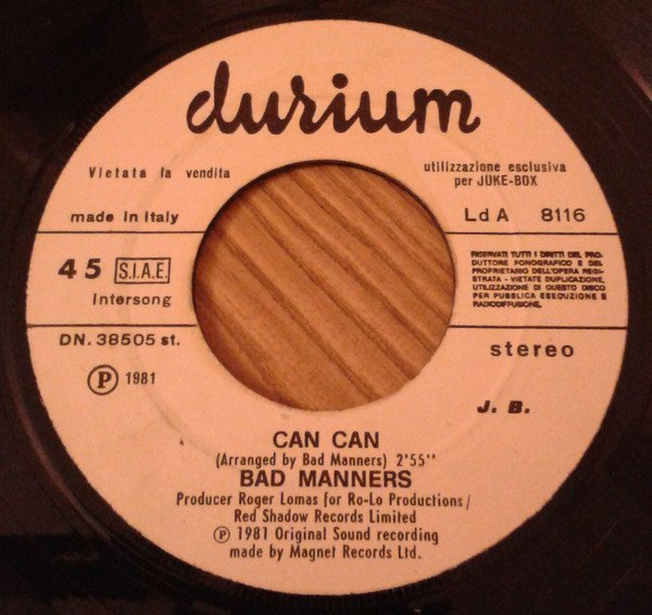 Bad Manners - Schiaffo / Can Can