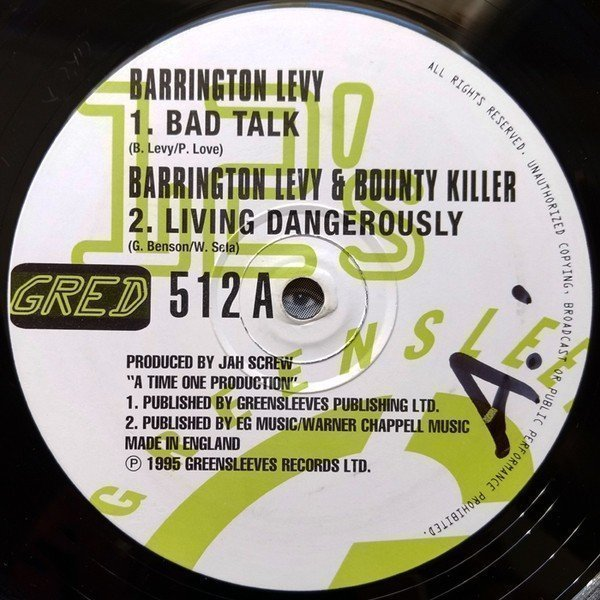 Barrington Levy - Bad Talk / Living Dangerously / Here I Come