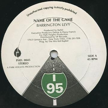Barrington Levy - Name Of The Game / Marcus