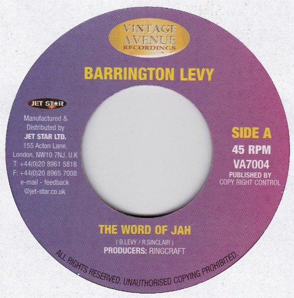 Barrington Levy - The Word Of Jah / Feed The Children