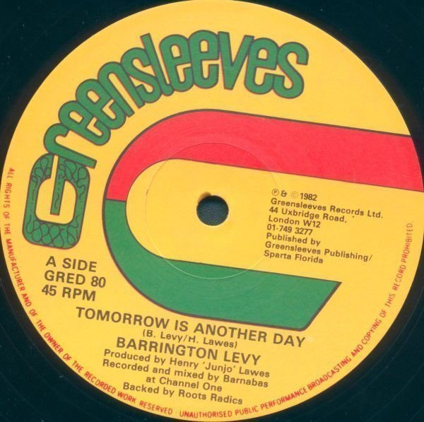 Barrington Levy - Tomorrow Is Another Day / Delaware