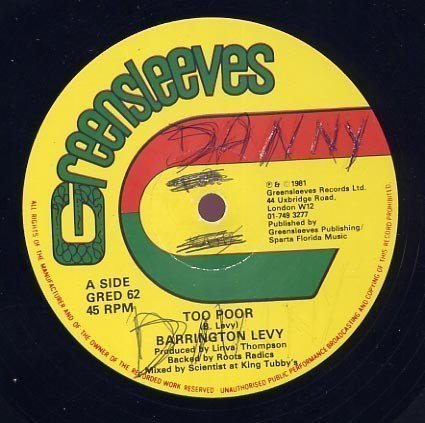 Barrington Levy - Too Poor / First Love