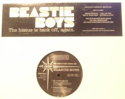 Beastie Boys - The Hiatus Is Back Off, Again.