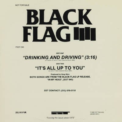 Black Flag - Drinking And Driving / It