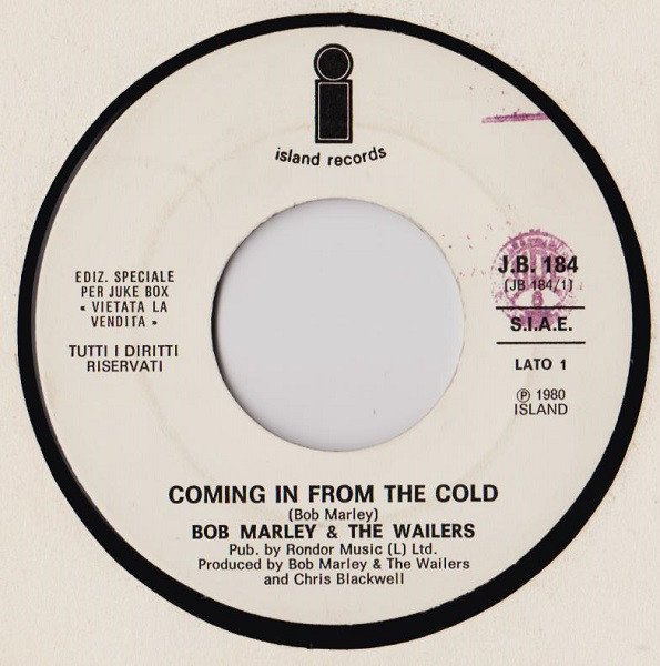 Bob Marley And The Wailers - Coming In From The Cold / Voglio Fare L