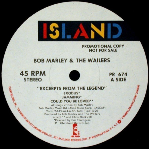 Bob Marley And The Wailers - Excerpts From The Legend