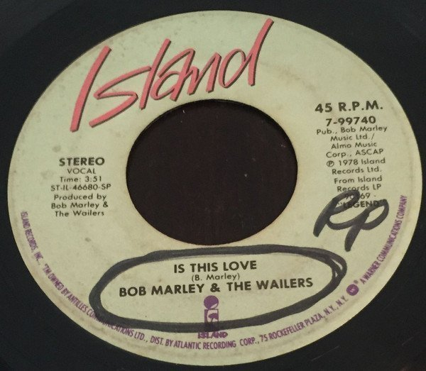 Bob Marley And The Wailers - Is This Love / Blackman Redemption