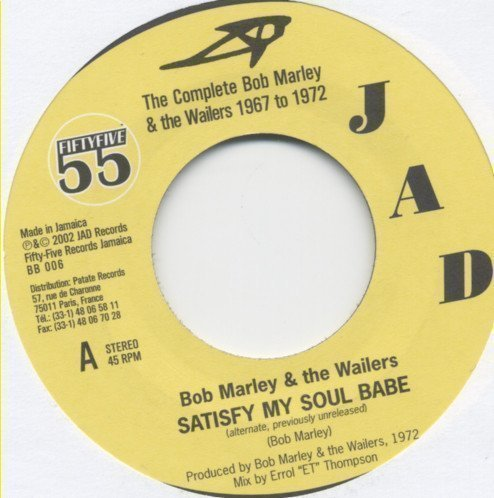 Bob Marley And The Wailers - Satisfy My Soul Babe