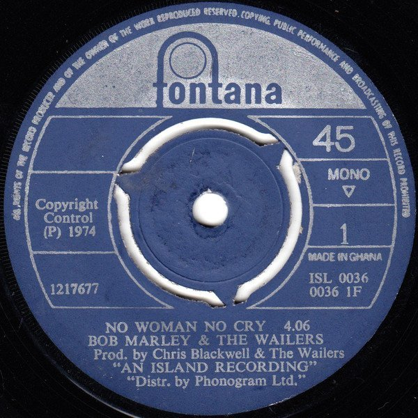 Bob Marley & The Wailers - No Woman No Cry / Bend Down Low