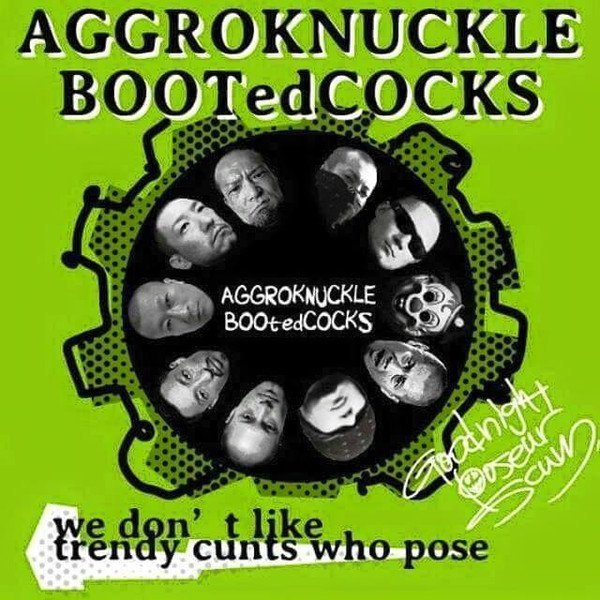 Booted Cocks - We Don't Like Trendy Cunts Who Pose (Goodnight Poseur Scum)