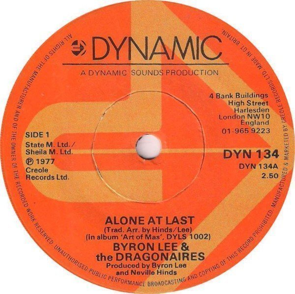 Byron Lee And The Dragonaires - Alone At Last / Fifth Of Beethoven