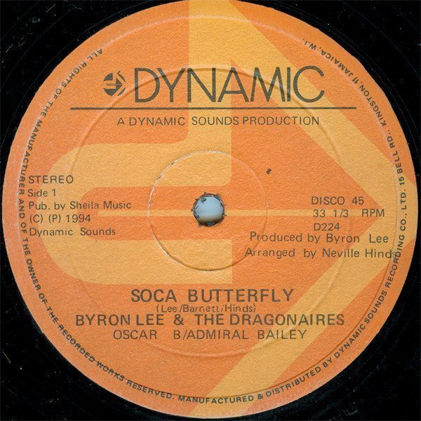 Byron Lee And The Dragonaires - Soca Butterfly