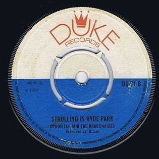Byron Lee And The Dragonaires - Strolling In Hyde Park / Cashbox