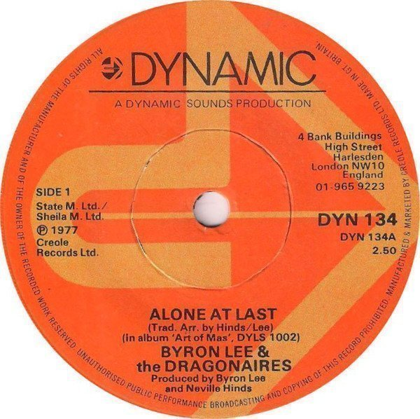 Byron Lee  The Dragonaires - Alone At Last / Fifth Of Beethoven