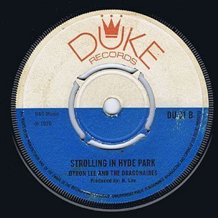 Byron Lee  The Dragonaires - Strolling In Hyde Park / Cashbox