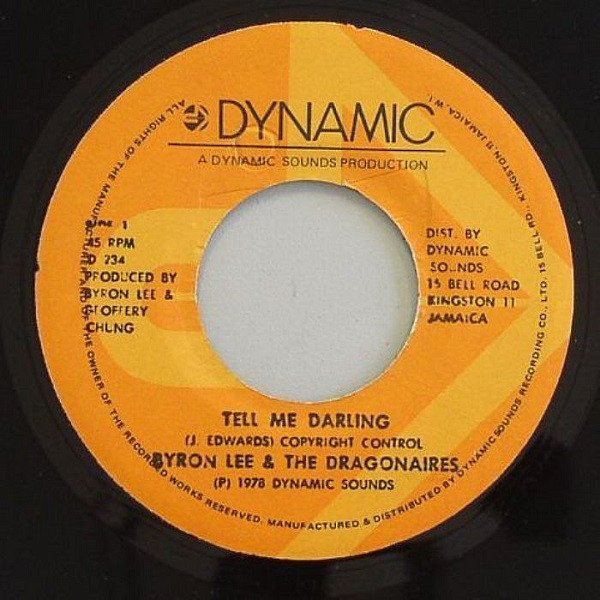 Byron Lee  The Dragonaires - Tell Me Darling / Jamaica Ska