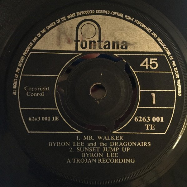 Byron Lee  The Dragonaires - The Record / Hang On Sloopy