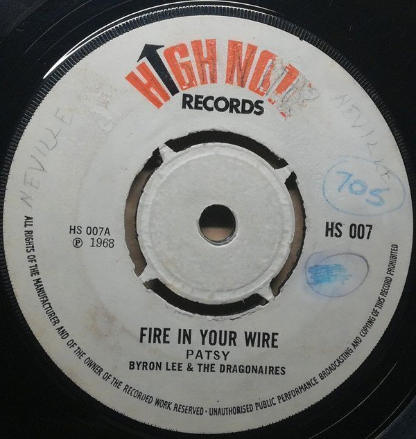 Byron  The Dragonaires - Fire In Your Wire / Move Up Calypso