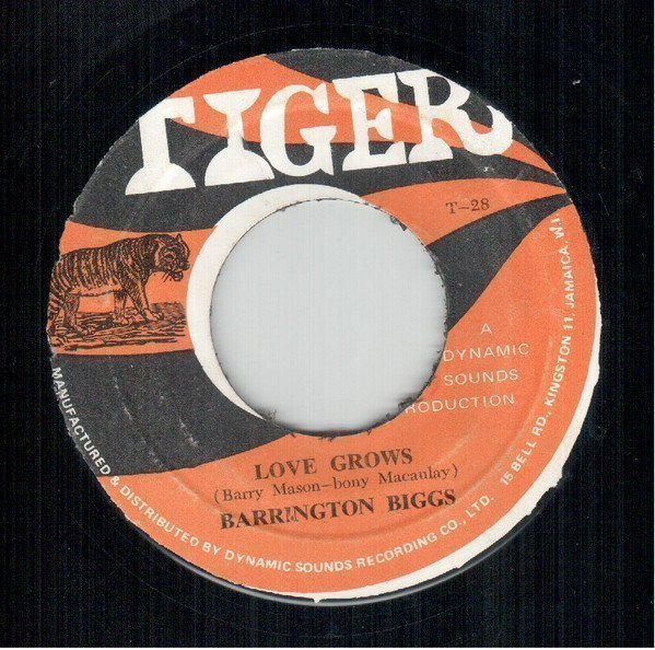 Byron  The Dragonaires - Love Grows / Trudy