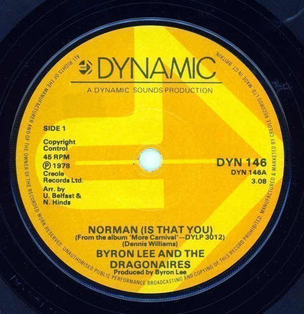 Byron  The Dragonaires - Norman (Is That You)