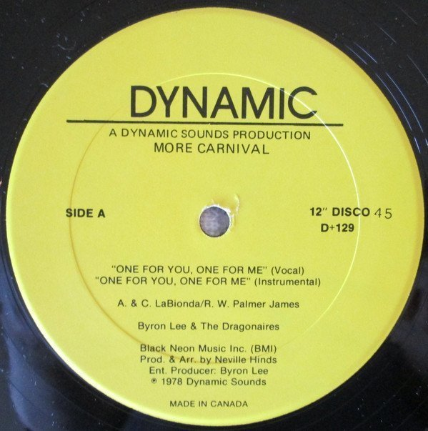 Byron  The Dragonaires - One For You, One For Me