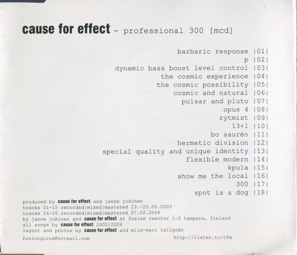 Cause For Effect - Professional 300