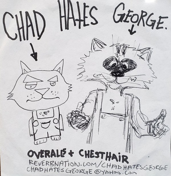 Chad Hates George Chatterbox And The Latter Day Satanists Stufy - Overalls + Chesthair