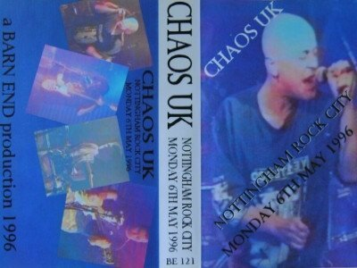 Chaos UK - Nottingham Rock City 6th May 1996
