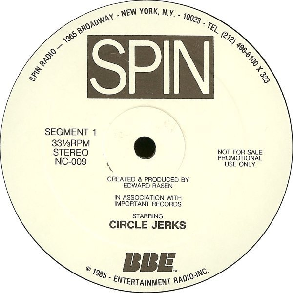 Circle Jerks - Spin Radio Concert With The Circle Jerks