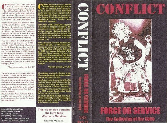 Conflict - Force Or Service - The Gathering Of The 5000