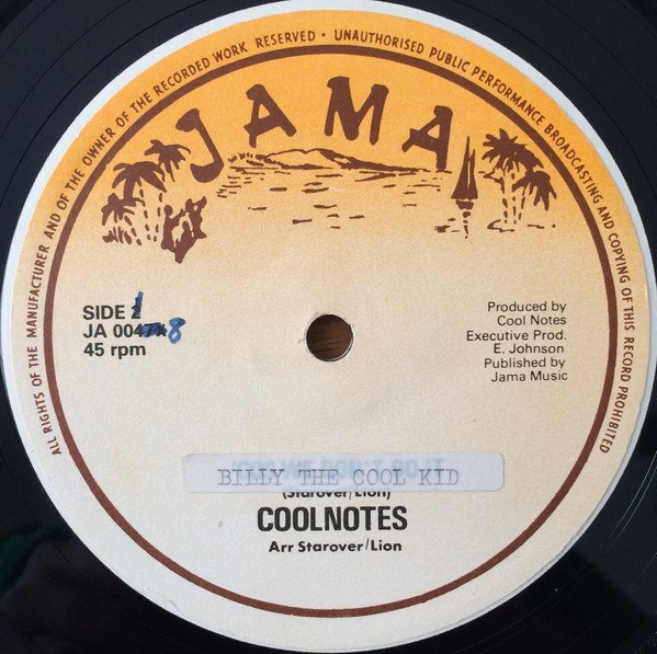 Coolnotes - Billy The Cool Kid / Kidnap My Baby