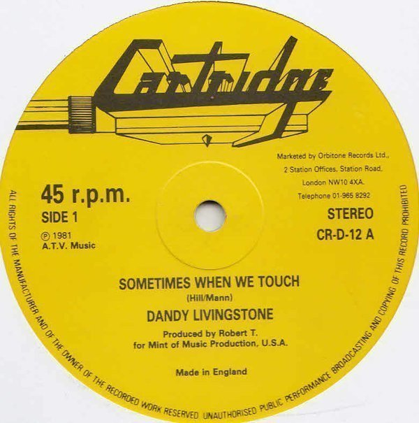 Dandy - Sometimes When We Touch / Tuff Tuff System