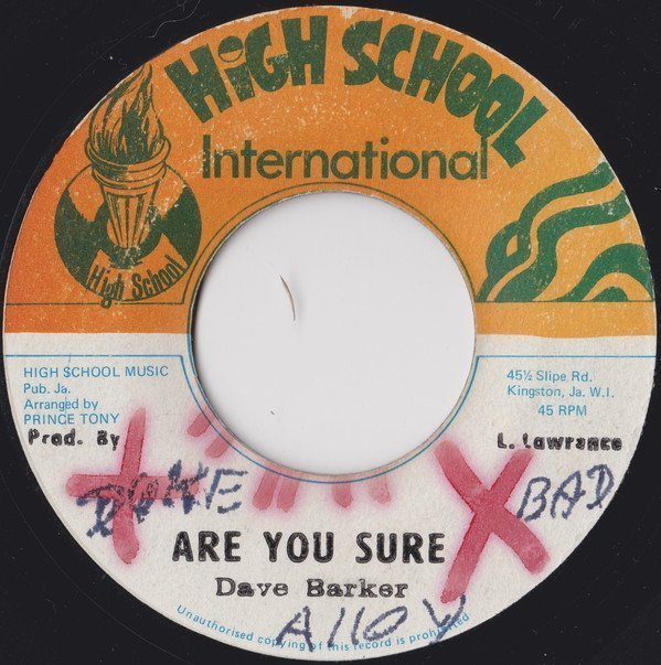Dave Barker Meet The Upsetters - Are you sure