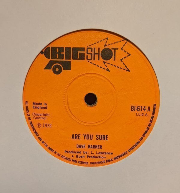 Dave Barker Meet The Upsetters - Are You Sure / I Don