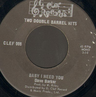 Dave Barker Meet The Upsetters - Baby I Need You / Find Yourself A Fool