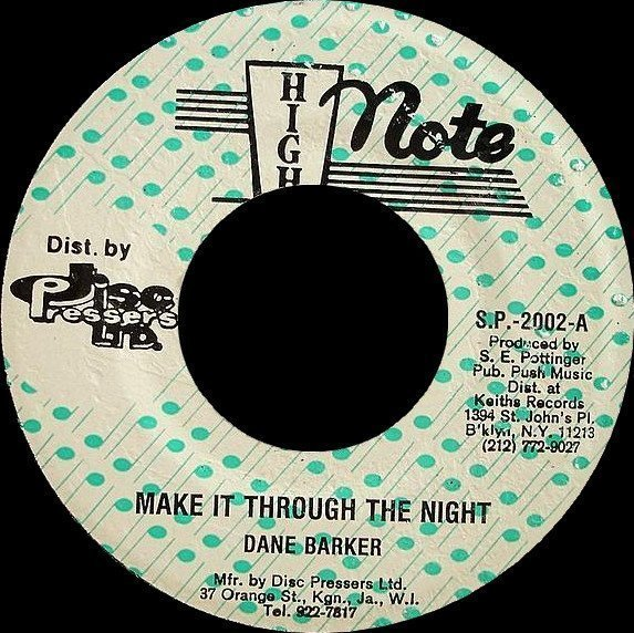 Dave Barker Meet The Upsetters - Make It Through The Night