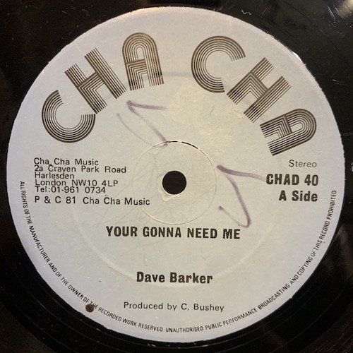 Dave Barker Meet The Upsetters - Your Gonna Need Me