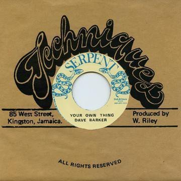 Dave Barker Meet The Upsetters - Your Own Thing / War Boat