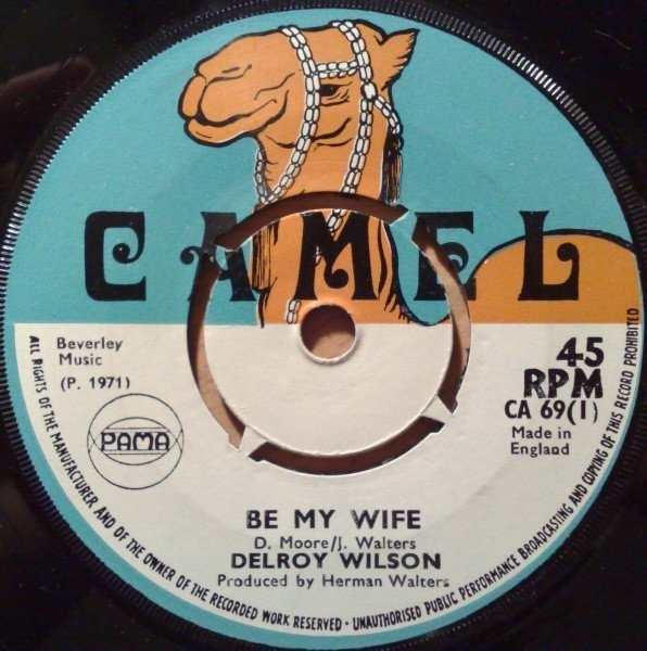 Delroy Wilson - Be My Wife / Hit Me Back Baby