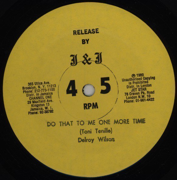 Delroy Wilson - Do That To Me One More Time