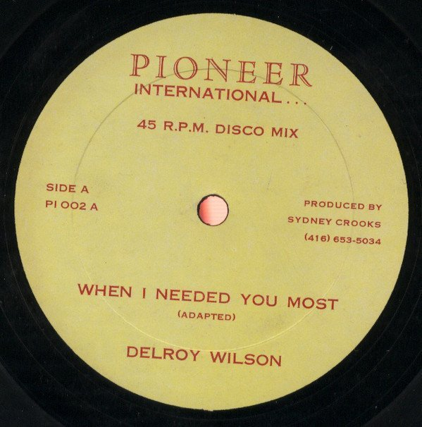 Delroy Wilson - When I Needed You Most