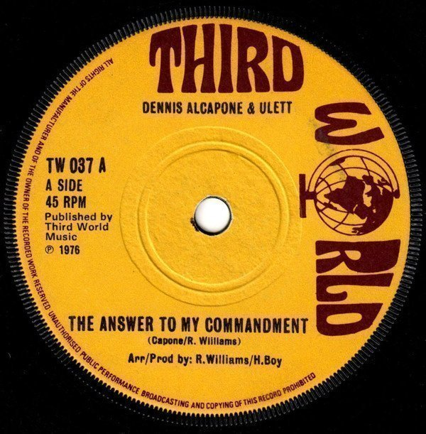 Dennis Alcapone - The Answer To My Commandment