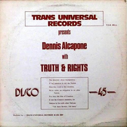 Dennis Alcapone - Truth & Rights / Time