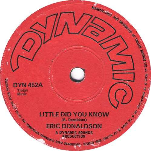 Eric Donaldson - Little Did You Know