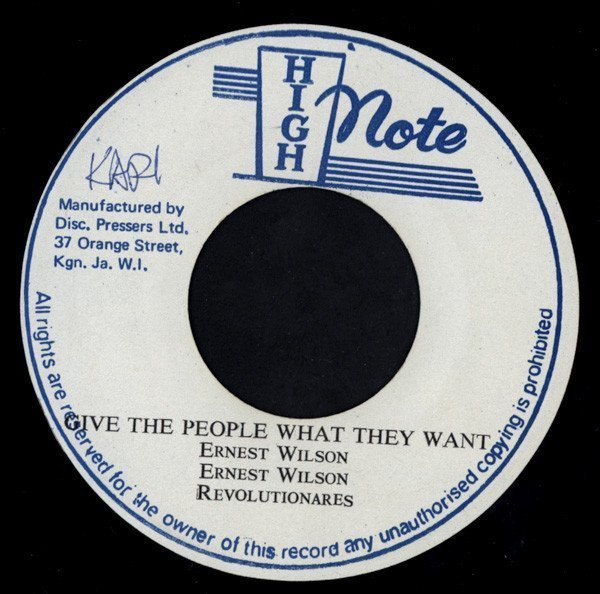 Ernest Wilson - Give The People What They Want